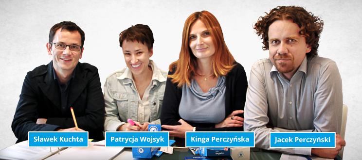 założyciele Wydawnictwa Cztery Głowy (fiszki.pl)